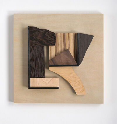 Betty McGeehan, 'Abstract wood wall sculpture: 'Gathering #25'', 2021