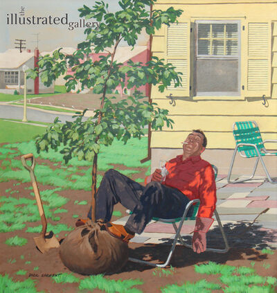 Richard Sargent, 'Shade Tree, Saturday Evening Post Cover', 1958