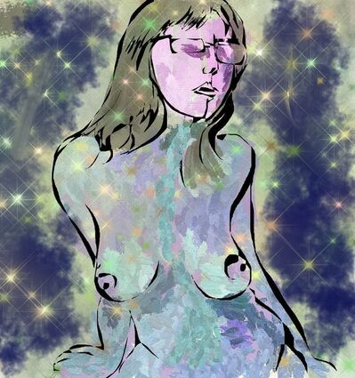 Tad Richards, 'Blue Nude with Stars', 2020