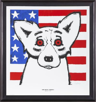 George Rodrigue, 'God Bless America - Sold Out Fundraising piece for 9/11 & Katrina', 2011
