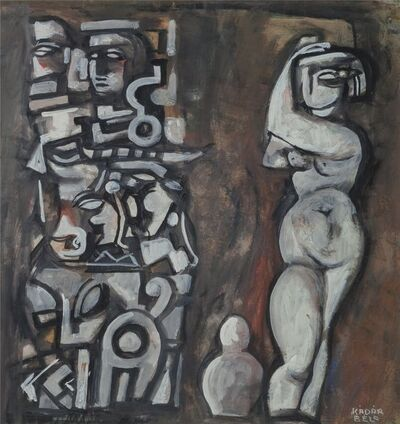 Bela Kadar, 'Untitled (Nude with Totemic Column)', circa late 1940s/early1950s