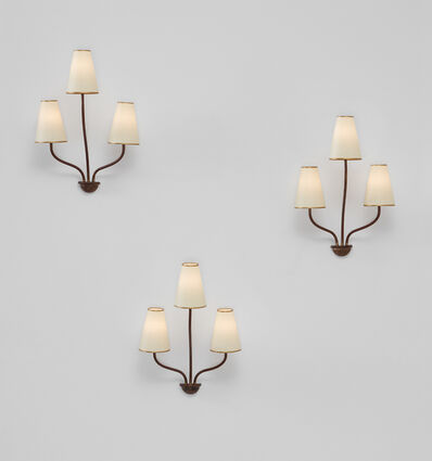 "Jean Royère, 'Set of three ""Persane"" three-armed wall lights', ca. 1953"
