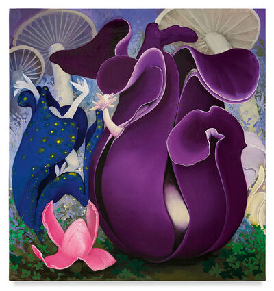 Inka Essenhigh, 'Purple Pods', ca. 2019