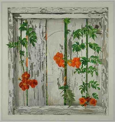 Patrick Kirwin, 'Trumpet Vines on White Fence (dimensions provided are unframed)', 2010