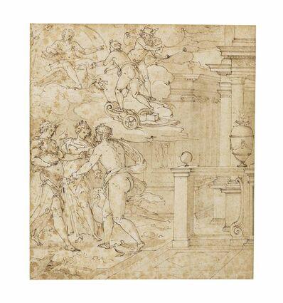 Giovanni Battista Castello, il Bergamasco, 'The quarrel of Venus, Jupiter and Minerva'