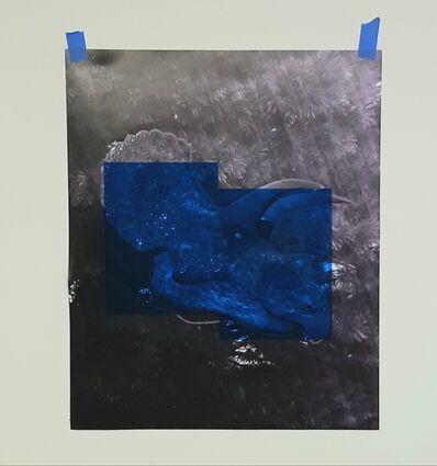 Oscar Figueroa, 'Blue Triceratops Head', 2020