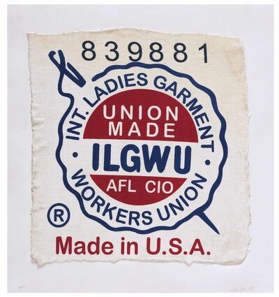 Analia Saban, 'International Ladies Garment Workers Union, Made in USA, Clothing Tag', 2019