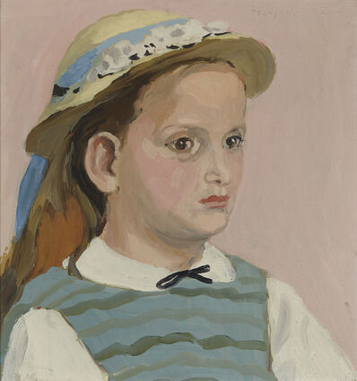 Fairfield Porter, 'Lizzie in a Straw Hat', 1964