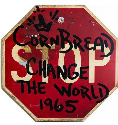 Cornbread, 'Cornbread Change The World Stop Sign', 2021