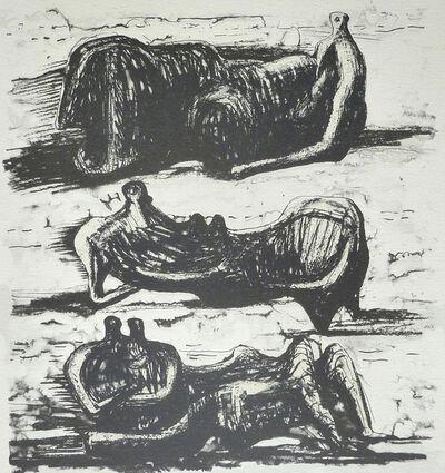 Henry Moore, 'Three Reclining Figures, from: Poetry | La Poésie', 1973