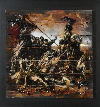 C215, 'Caillebotis (Hommage à Géricault)', 2013