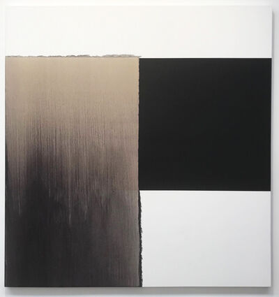 Callum Innes, 'Exposed Painting Charcoal Black Red Oxide', 2002