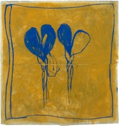 Joan Hernández Pijuan, 'Lliris blaus ', 1987