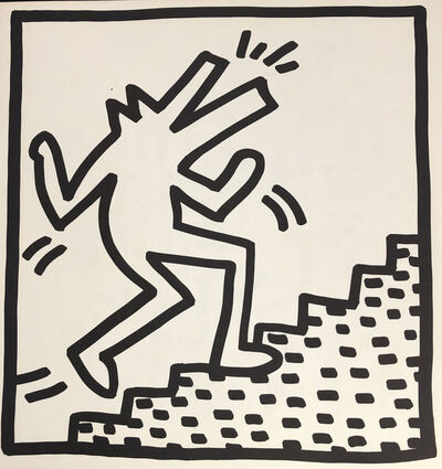 Keith Haring, 'Keith Haring (untitled) crocodile lithograph 1982', 1982