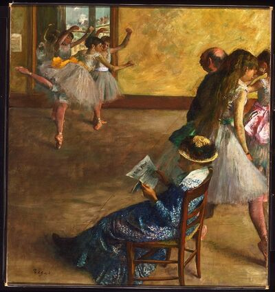Edgar Degas, 'The Ballet Class', about 1860