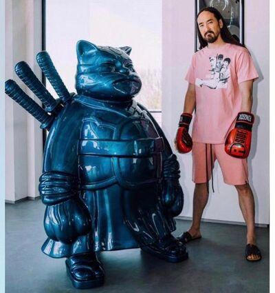 Hiro Ando, 'SamuraiCat Blue', 2019