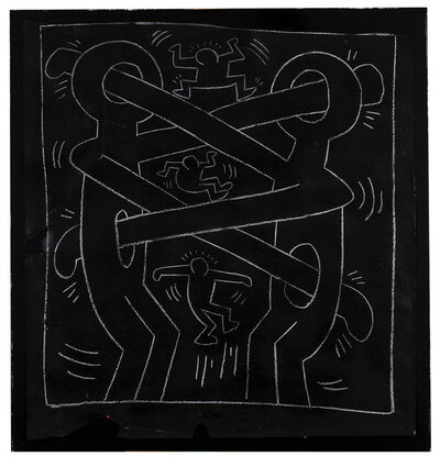Keith Haring, 'Boxers (Subway Drawing)', 1982-1984