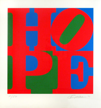 Robert Indiana, 'Classic HOPE', 2010