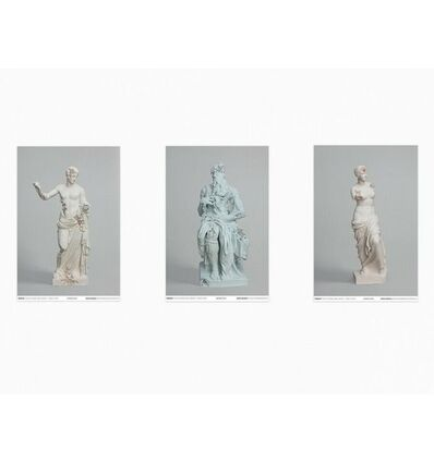 "Daniel Arsham, ' Daniel Arsham ""3020"" Exhibition Set Of 3 Posters', 2019"