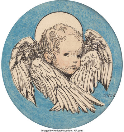 JESSIE WILLCOX SMITH, 'Angel, A Child's Prayer interior book illustration', 1926
