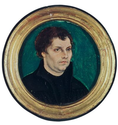 Lucas Cranach the Elder, 'Locket Portrait of Martin Luther', 1525
