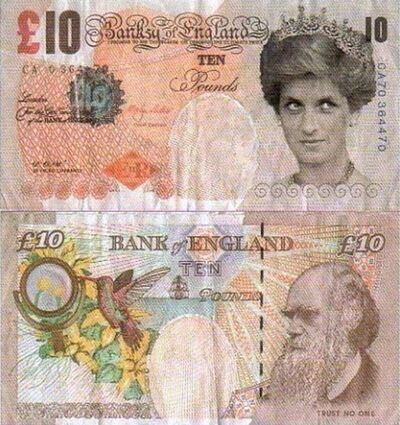 """Banksy, '""""Di-Faced Tenner"""" with hand-signed certificate', 2004"""