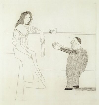 David Hockney, 'Pleading for the Child from Illustrations for Six Fairy Tales from the Brothers Grimm', 1969