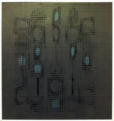 Ivan Contreras Brunet, 'Carres et circles N° 2', 1969-1970