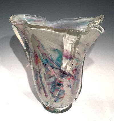 AlBo Glass, 'Large Whorl Vase', ca. 2015