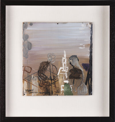 Simon Stone, 'Two Figures Around a Sculpture', 2017