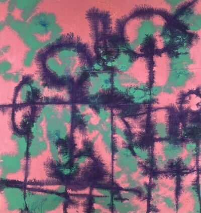Carl A Alexander, 'Pink, Green and Purple', ca. 1950-70s