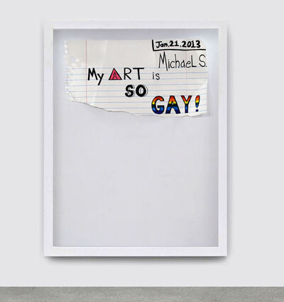 Michael Scoggins, 'Gay Art', 2013