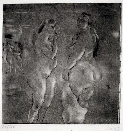 Jules Pascin, 'Comparaison (Nude Bathers)', 1929