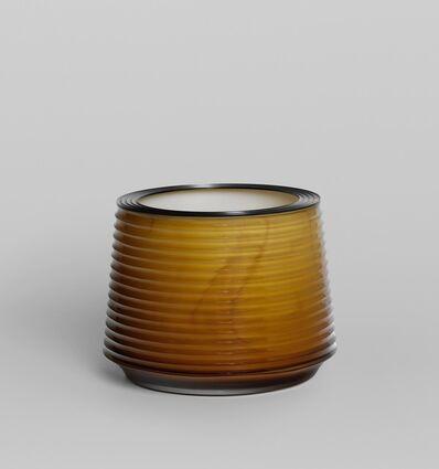 Anna Dickinson, 'Yellow Cut Vessel with Steel rim ', 2017