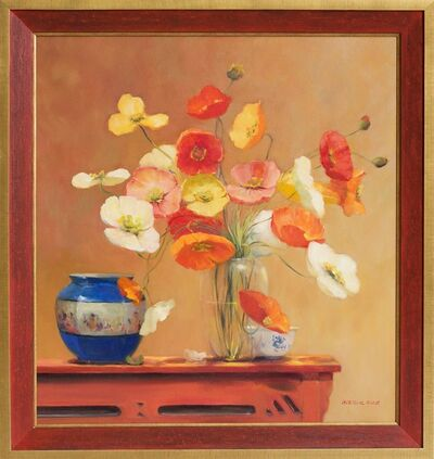 Jacqueline Fowler, ''Poppies with Blue planter'', 2014