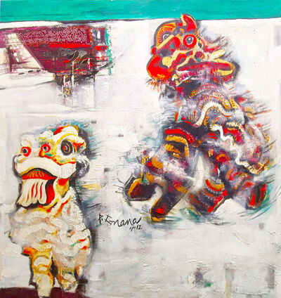 P Gnana, 'Lion Dance', 2012