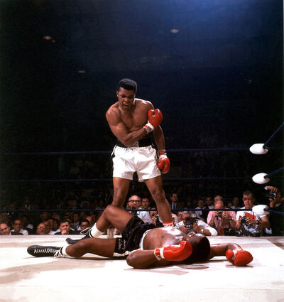 Neil Leifer, 'Muhammad Ali vs. Sonny Liston, St. Dominicks Arena, Lewiston, Maine, May 25', 1965