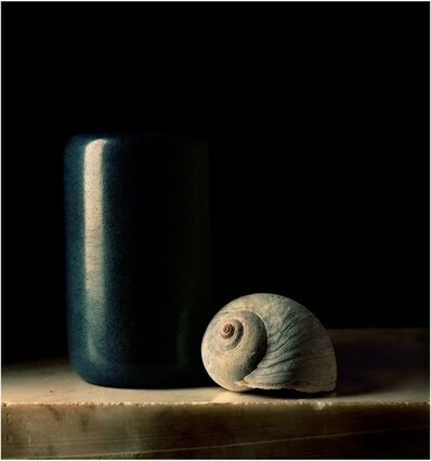 Paul Cary Goldberg, 'Blue Pottery with Shell'