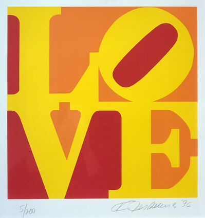 Robert Indiana, 'Book of Love (Yellow, Red, Orange)', 1996