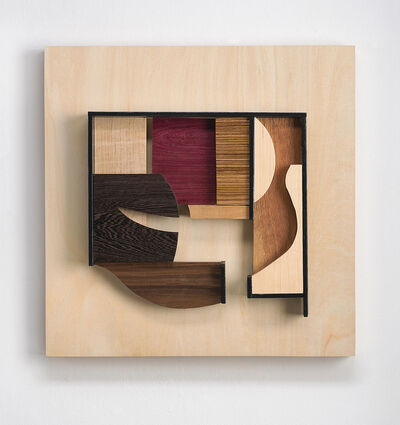 Betty McGeehan, 'Abstract wood wall sculpture: 'Gathering #5'', 2021