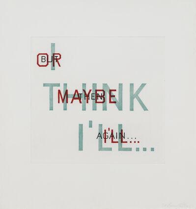 Ed Ruscha, 'Indecision ', 1982