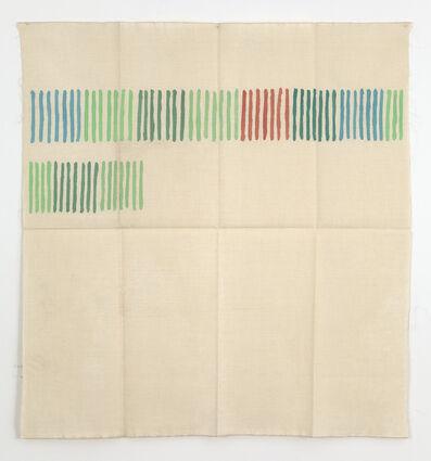 Giorgio Griffa, 'Verticale verde', 1976