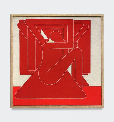Richard Colman, 'Untitled, (Red Figure, Yellow Eye)', 2018