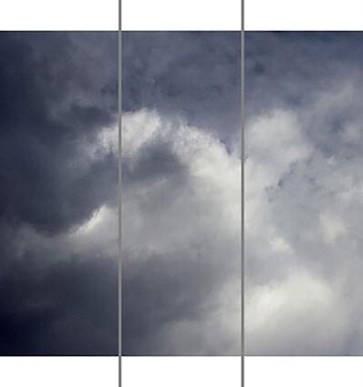 Jeri Eisenberg, 'Songs of the Sky No. 8 (3 Panel Photograph of Sky Japanese Kozo Paper/Encaustic)', 2018