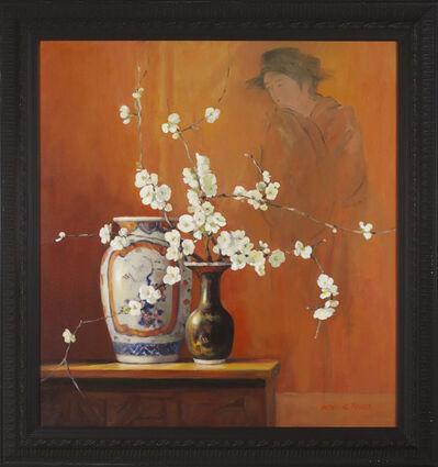 Jacqueline Fowler, 'Amari Vase and White Japonica'