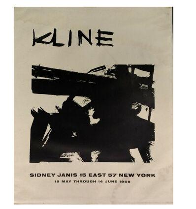 Franz Kline, ''KLINE', Exhibition Invitation/Poster, Sidney Janis Gallery NYC', 1958