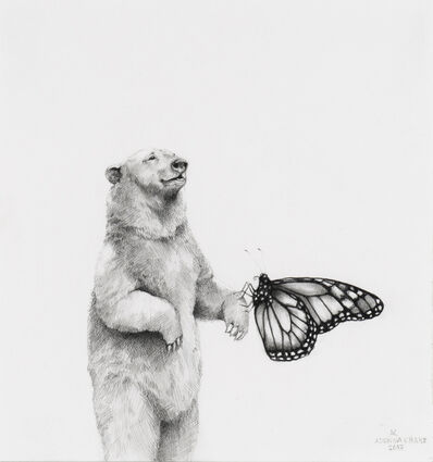 Adonna Khare, 'Polar Bear with Monarch', 2017
