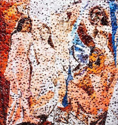Vik Muniz, 'Les Demoiselles d'Avignon, after Pablo Picasso', 2009