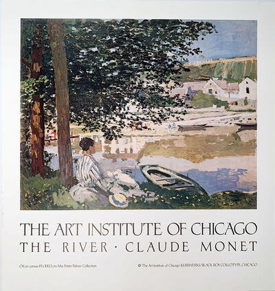 Claude Monet, 'The Art Institute of Chicago, The River, Claude Monet, Continuous Tone (No Dots) Lithographic Poster, HOLIDAY SALE $50 OFF THRU MAKE OFFER', 1980