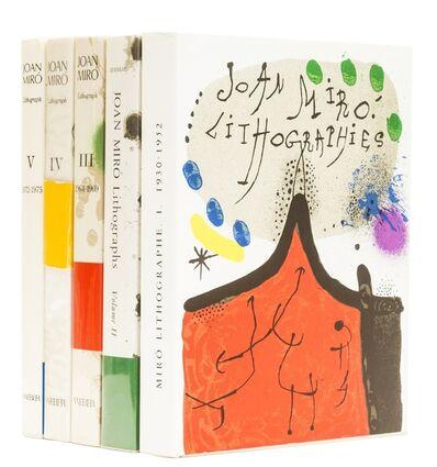 Joan Miró, 'Lithographe I-V', 1972-1992